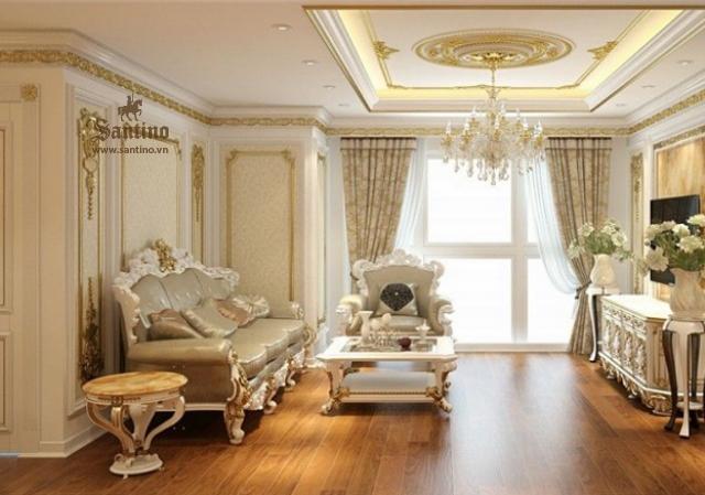 Nội thất phòng khách căn hộ Vinhomes Ocean Park