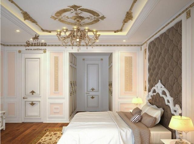 Nội thất phòng ngủ master căn hộ Vinhomes Ocean Park