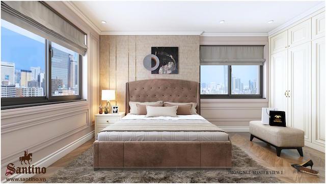 Nội thất phòng ngủ căn hộ Vinhomes Ocean Park