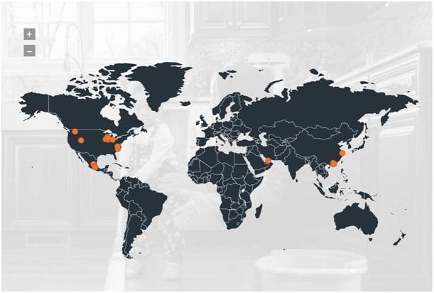 Nhà máy của ELKAY trên toàn cầu