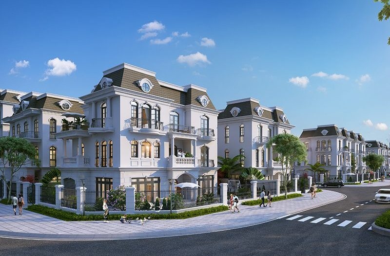Mẫu thiết kế nhà biệt thự đơn lập Vinhomes tân cổ điển