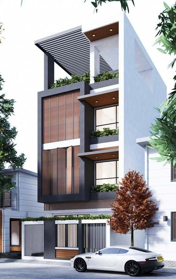 Mẫu thiết kế nhà phố 4 tầng hiện đại