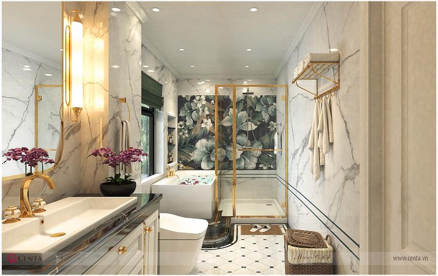 Thiết kế phòng tắm master, wc vệ sinh master