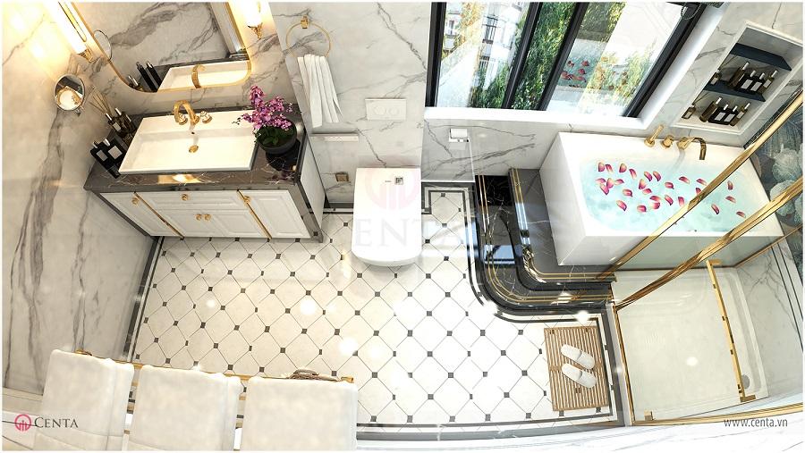 Thiết kế phòng wc, phòng tắm, bồn tắm, lavabo