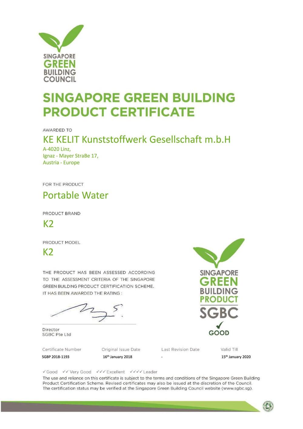 Tiêu chuẩn chất lượng ống nước Kelen Certificate cấp nước hàn nhiệt