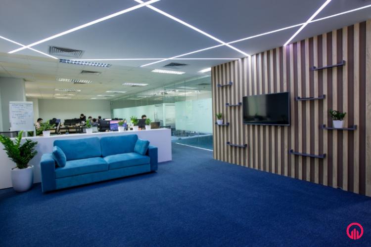 Không gian chung Thi công nội thất văn phòng