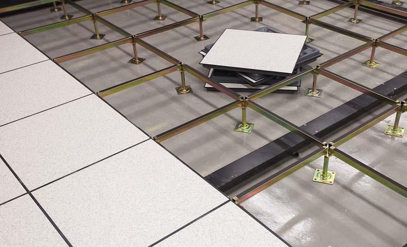 Thi công sàn nâng, trụ sắt, giằng sắt, tấm sàn văn phòng