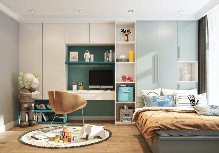 Có thiết kế sáng tạo khiến cho căn phòng của bé trở nên sinh động hơn.