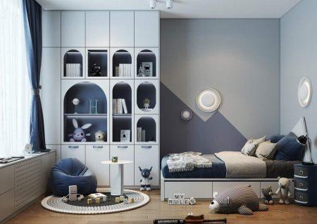 kết hợp hài hòa giữa giường ngủ với những đồ nội thất trong căn phòng