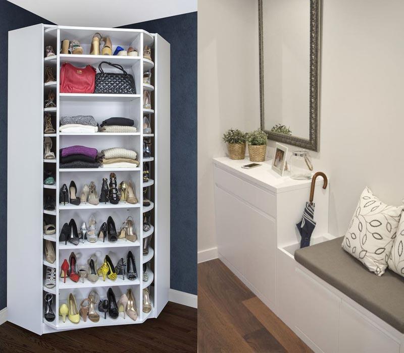 Mẫu tủ giày thông minh tiện ích đa năng